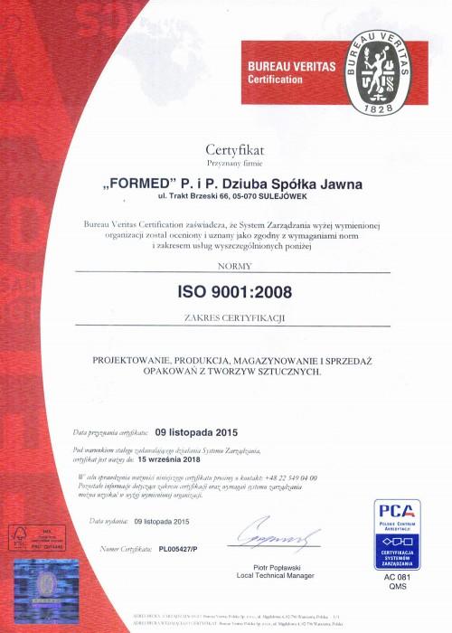 Certyfikaty formed for Bureau veritas polska
